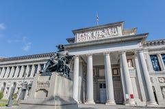 Prado museum i Madrid, Spanien Arkivbilder