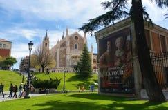 Prado Museum and San Jerónimo el Real Stock Photography