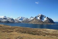 Prado sobre el fiordo de Napp Fotografía de archivo libre de regalías