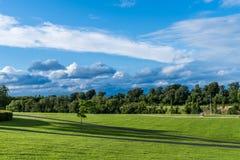 Prado verde no parque Dublin de Cabinteely Fotografia de Stock Royalty Free