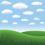 Prado y colinas libre illustration