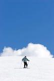 pradollano手段滑雪倾斜西班牙 库存照片