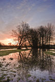 Prados del este del agua de Harnham. Fotos de archivo