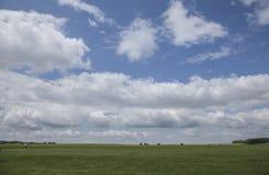 Prados - planície de Salisbúria/céus imagem de stock
