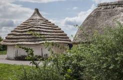 Prados - planície de Salisbúria/casas velhas Fotografia de Stock Royalty Free