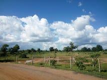 Prados y campos indios Foto de archivo libre de regalías