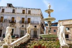 The Praetorian Fountain in Palermo, Italy Stock Image