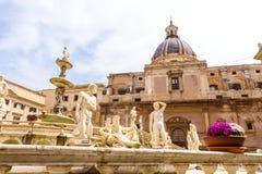 The Praetorian Fountain in Palermo, Italy Royalty Free Stock Photos