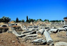 Praetorium. Archaeological site of Gortyn Royalty Free Stock Images