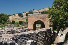 The Praetorium, Gortyna ruins. Crete. Greece. Stock Photo