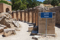 The Praetorium, Gortyna ruins. Crete. Greece. Stock Image