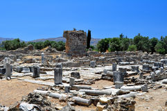 Praetorium. Local Archaeological de Gortyn. Foto de Stock Royalty Free