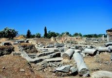 Praetorium. Luogo Archaeological di Gortyn immagini stock libere da diritti