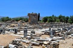 Praetorium. Sitio arqueológico de Gortyn. Foto de archivo libre de regalías