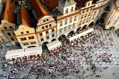 Prag-alter Rathausplatz stockfotografie