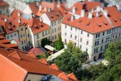 Prag-Ansicht der Stadt von oben Stockfoto