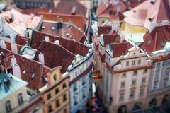 Prag-Ansicht der Stadt von oben Lizenzfreies Stockfoto
