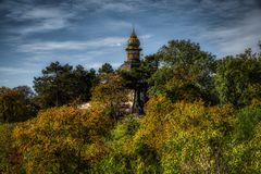 Prag, Ansicht von Hanavsky-Pavillon stockfotografie