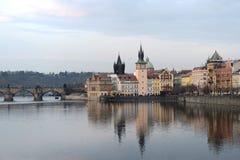 Prag. Ansichten der Stadt stockbilder