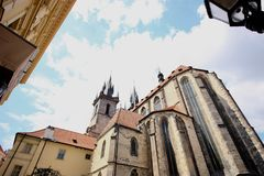 Prag-Architekturensemble Stockbild