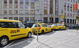 Prag, am 29. August: Fahrerhaus-Station von Prag in der Tschechischen Republik Lizenzfreie Stockfotos