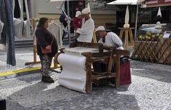 Prag, am 29. August: Markt-Stall in Prag, Tschechische Republik Lizenzfreies Stockbild