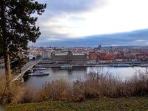 Prag, Biergarten Stockbilder