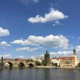 Prag-Bootsansicht Lizenzfreies Stockfoto