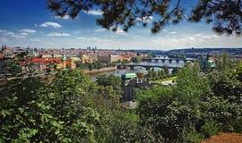 Prag - Brücken Stockbild