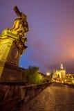Prag Charles Bridge -2 Stockbilder
