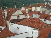 Prag-Dächer Lizenzfreie Stockfotos