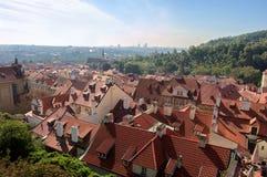 Prag-Dächer Stockbild