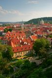 Prag-Dachspitzen Stockfotos