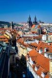 Prag-Dachspitzen Stockbild