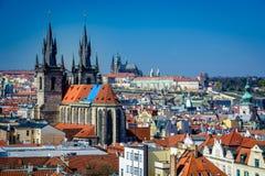 Prag-Dachspitzen Lizenzfreie Stockfotos