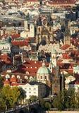 Prag. Eine Art von einem Kontrollturm auf Petrzhine. lizenzfreie stockbilder