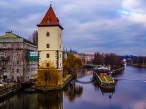Prag, in einer Brücke Lizenzfreies Stockbild