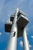 Prag-Fernsehenkontrollturm stockbild