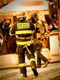Prag-Feuerwehrmänner Stockfotografie
