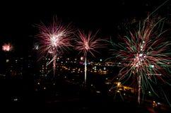 Prag-Feuerwerk Stockfotos