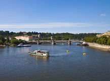 Prag, Fluss Moldau Stockfotografie