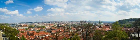 Prag gesehen von der Festung Lizenzfreie Stockfotografie