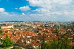 Prag gesehen von der Festung Lizenzfreie Stockbilder