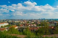 Prag gesehen von der Festung Stockfoto