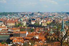 Prag gesehen von der Festung Lizenzfreies Stockbild