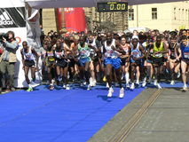 Prag Halfmarathon Lizenzfreies Stockbild