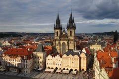 Prag-Hauptplatz lizenzfreie stockfotos