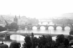 Prag im monochrom früh morgens Lizenzfreies Stockbild
