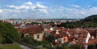 Prag im Panorama Lizenzfreies Stockbild