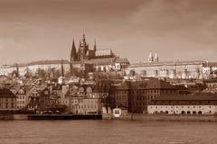 Prag im Sepia Stockbild